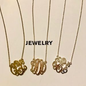 Jewelry - Initial Monogram Necklace - letter necklace
